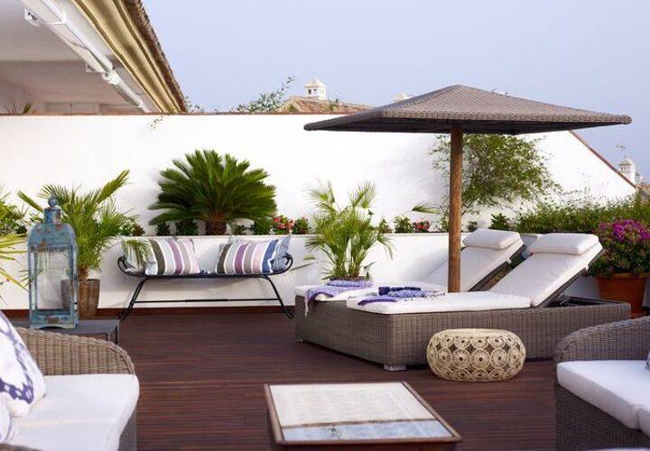 Lomas del Rey – terraza hamacas